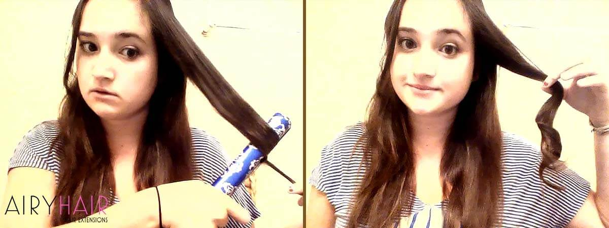 How to Curl Hair Extensions, Step 2