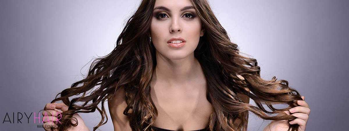 Curling Hair Extensions with Hair Straightener
