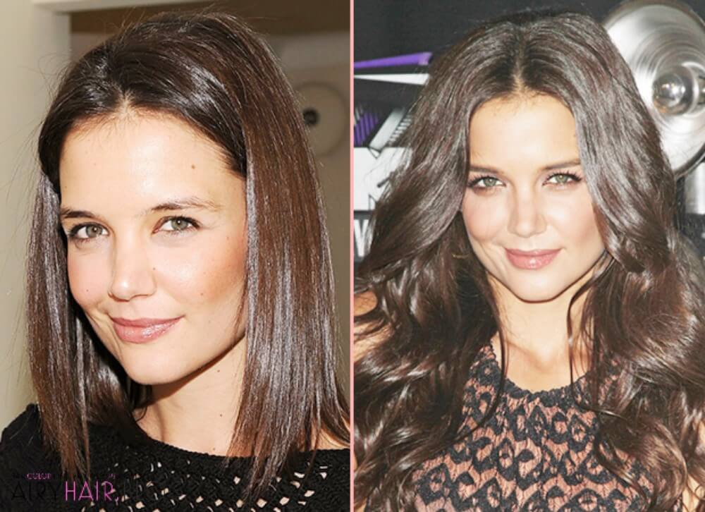 Hair Extensions on Short Hair, Before and After