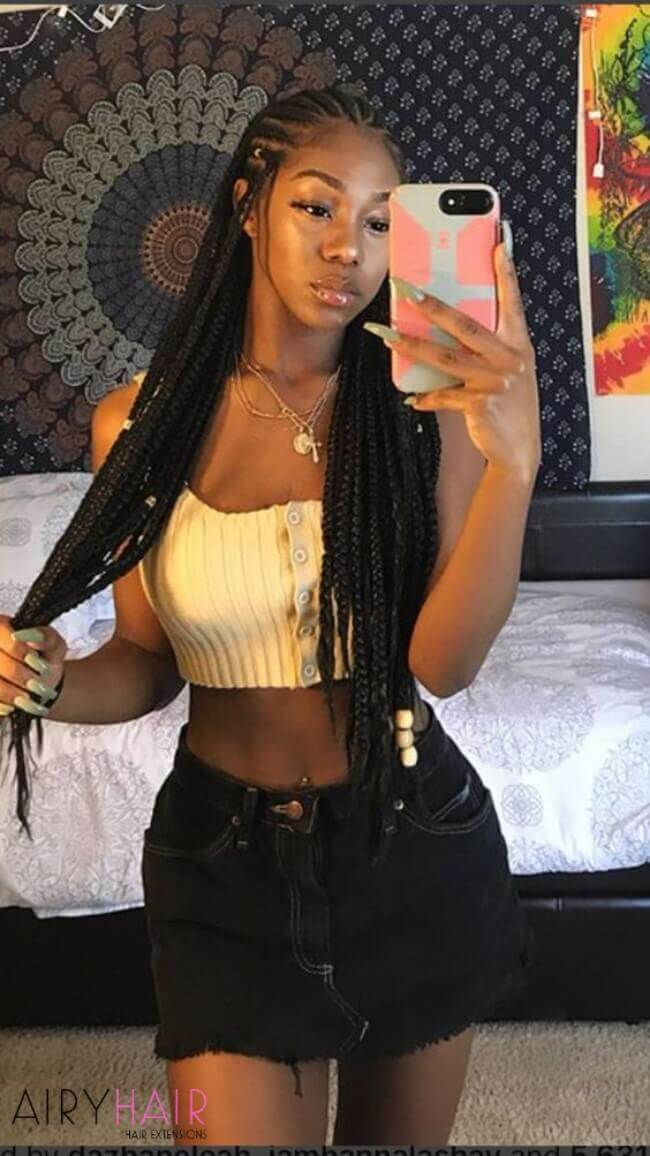 African american super long extensions