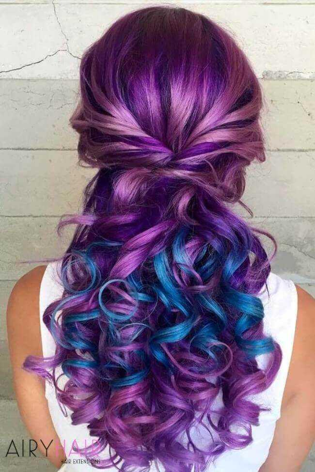 Pink, fuchsia, rose, purple, and aqua extensions