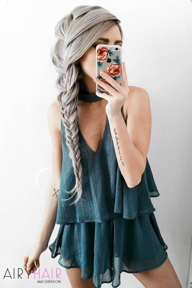 Braids with hair extensions