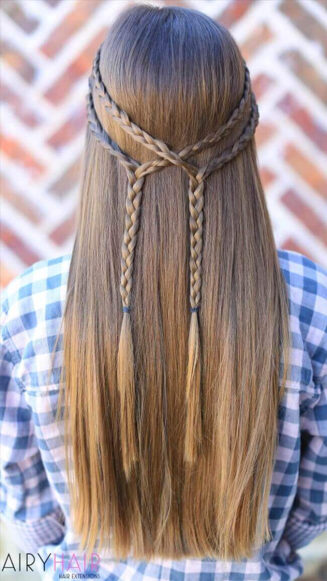 Hair extensions with braids