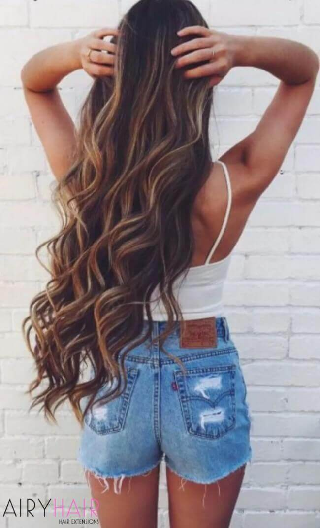 super long hair extensions