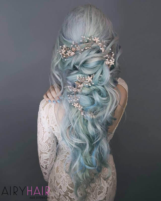 Magical bridal hairstyle