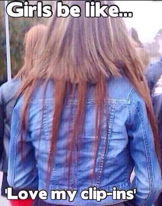 Best Of Funny Hair And Hair Extension Memes