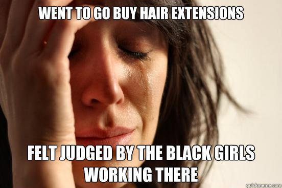 Funny Hair Extensions Meme