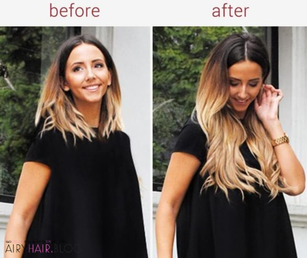 Ombre Before and After