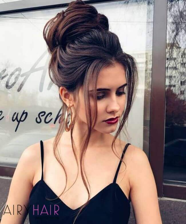 Hair extensions updo
