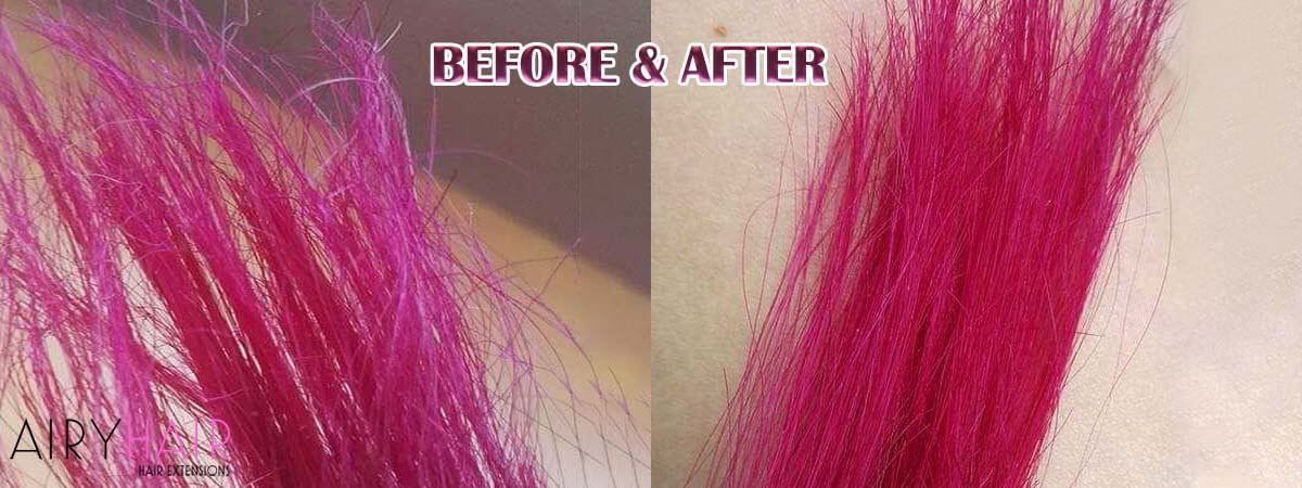 Damaged Hair Extensions, Before and After Repair