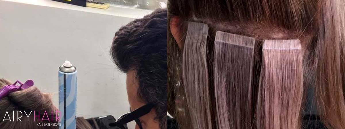 Attaching Tape-in Hair Extensions