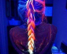 Amazing neon hairstyle braid