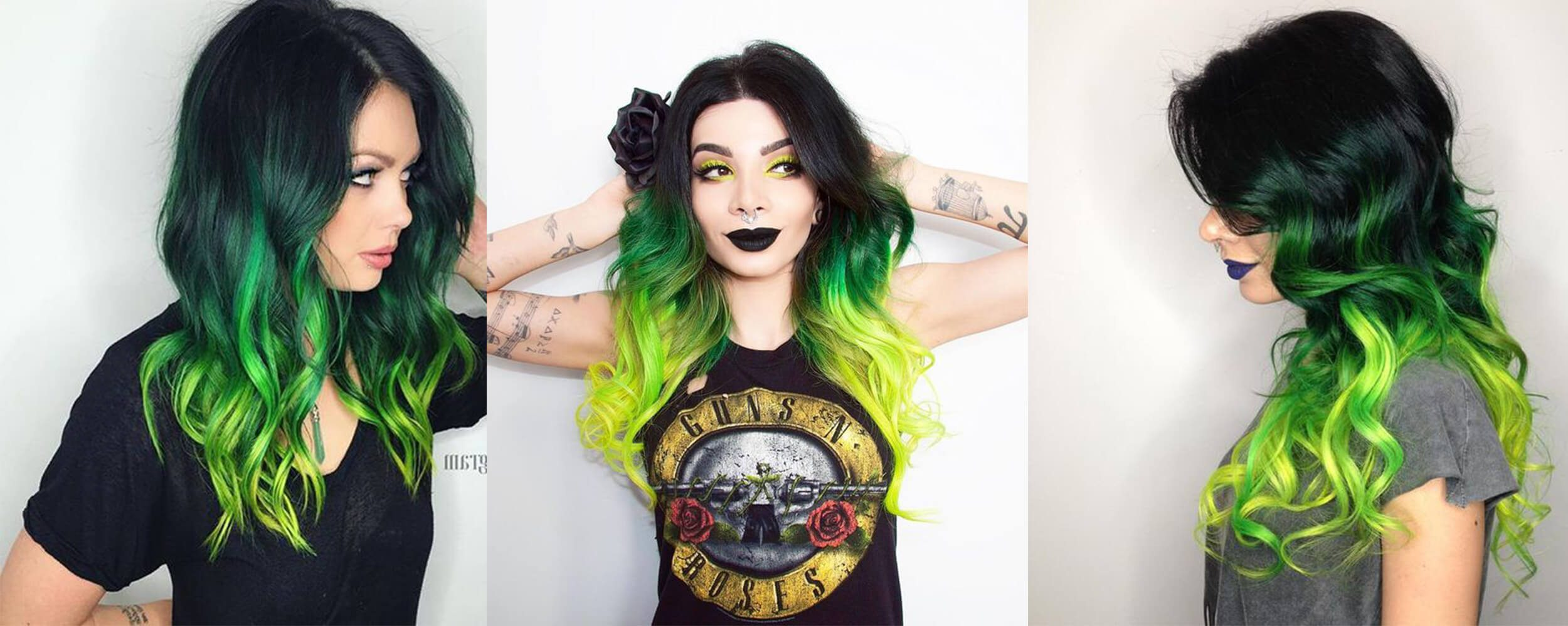Green and Black hairstyles forecast dress in on every day in 2019