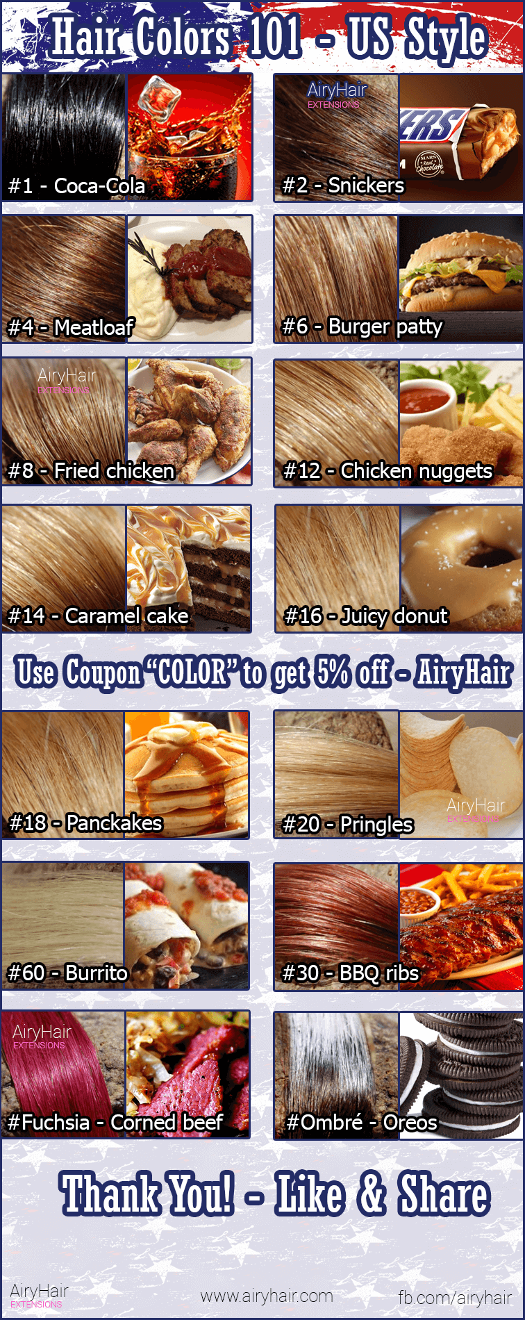 Complete hair extensions color chart color palette guide hair color guide the usa style nvjuhfo Choice Image