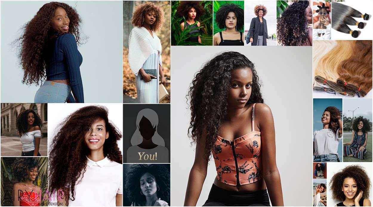 African American hair weave extensions