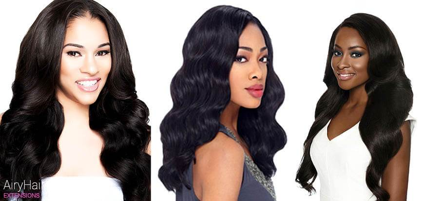 Body Wave Hair Extension Texture