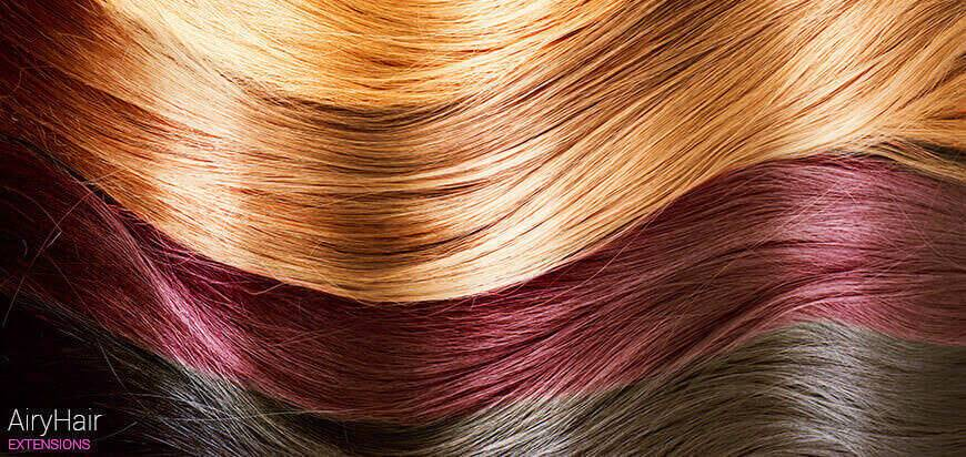 Weft human hair details