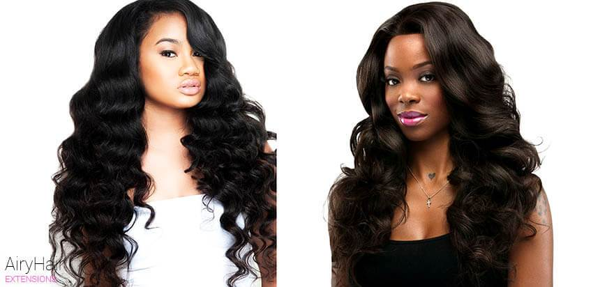 Loose Wave Hair Extension Texture