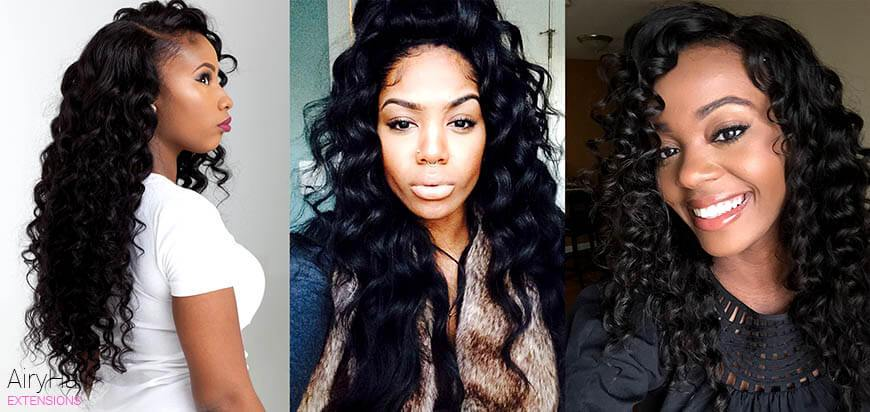 Deep Wave Hair Texture Extensions