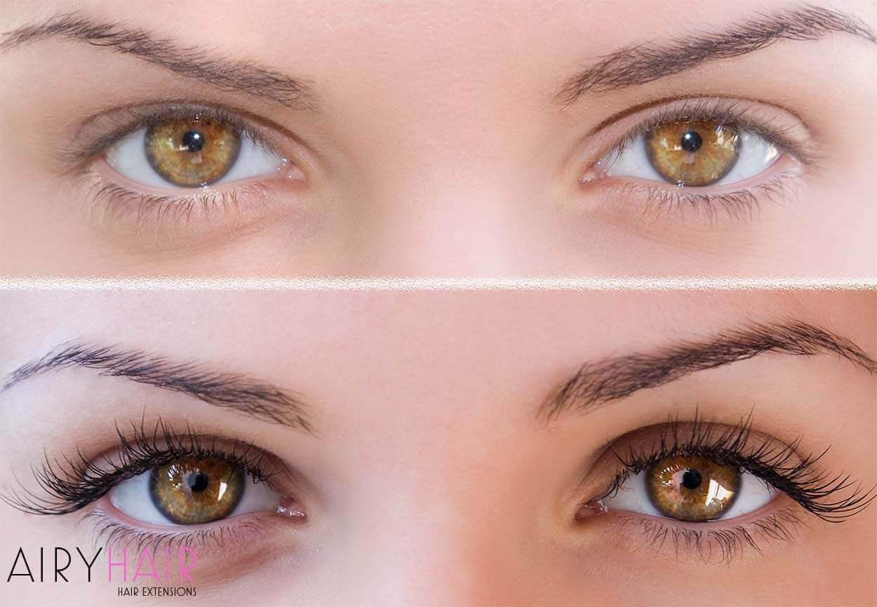 Results: before and after eyelash extensions