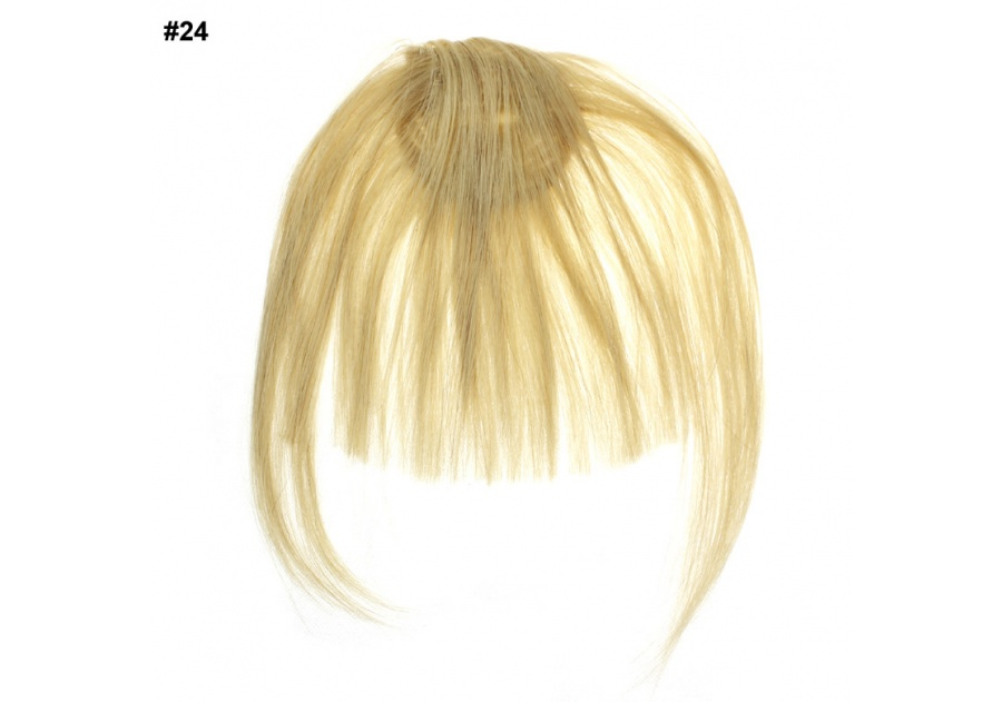 Blond Clip-In Real Human Hair Wig / Fringe