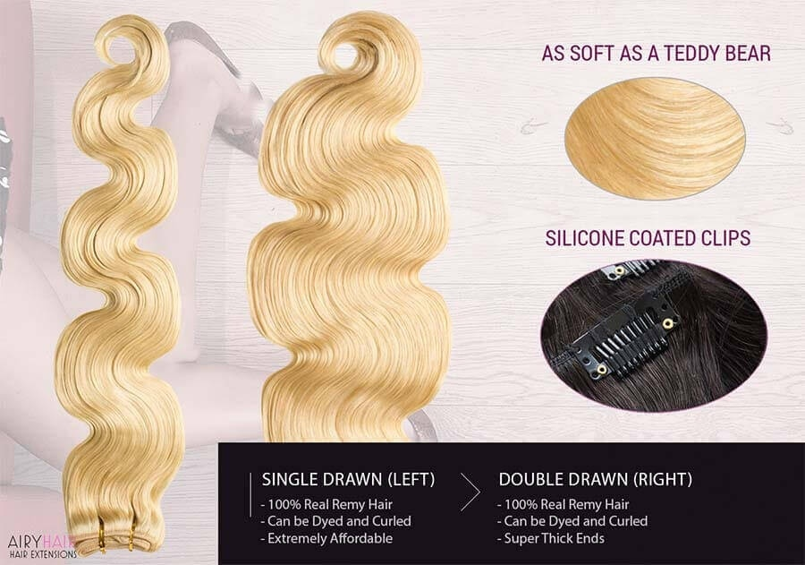 Body Weave Clip-in Human Hair Extensions