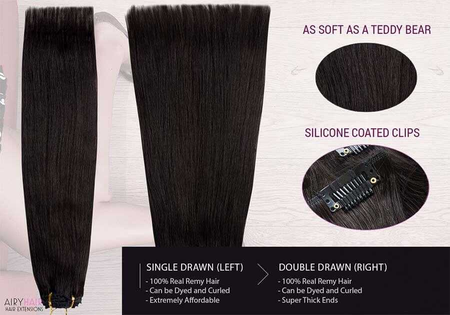 Straight Clip-in Human Hair Extensions