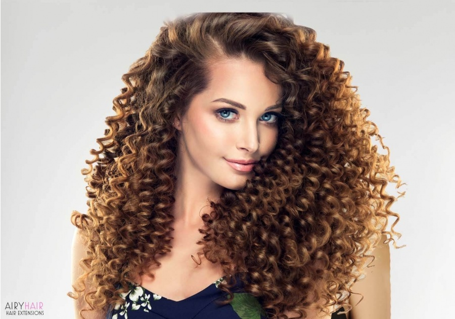 Curly Clip-in Human Hair Extensions