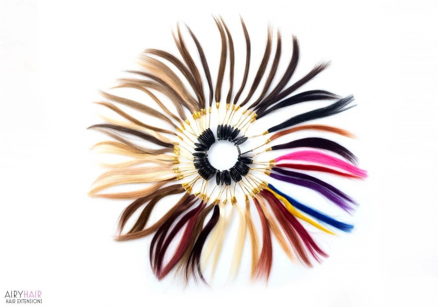 Hair Extensions Color Ring (43 Color Palette)