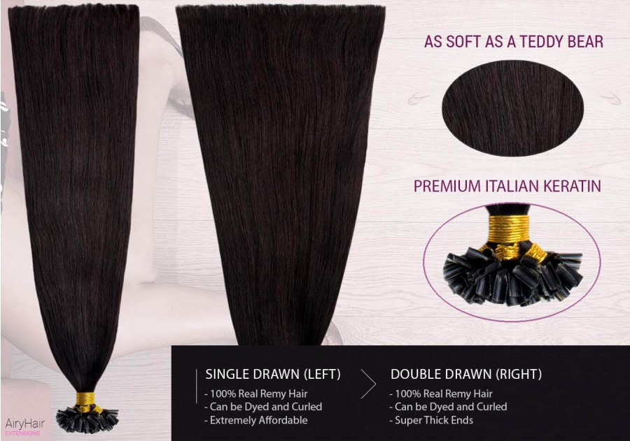 Straight Keratin Hair Extensions