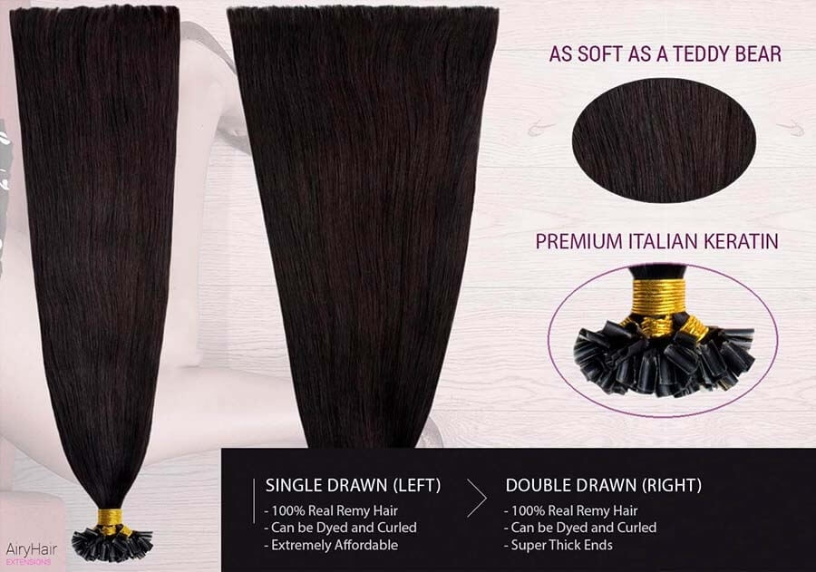 Straight U-Tip / Keratin Remy Hair Extensions