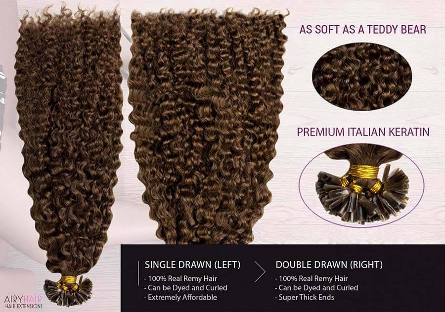 Curly U-Tip / Keratin Remy Hair Extensions