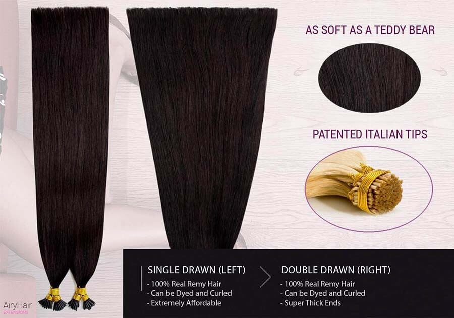 Straight Stick / I-Tip Remy Human Hair Extensions