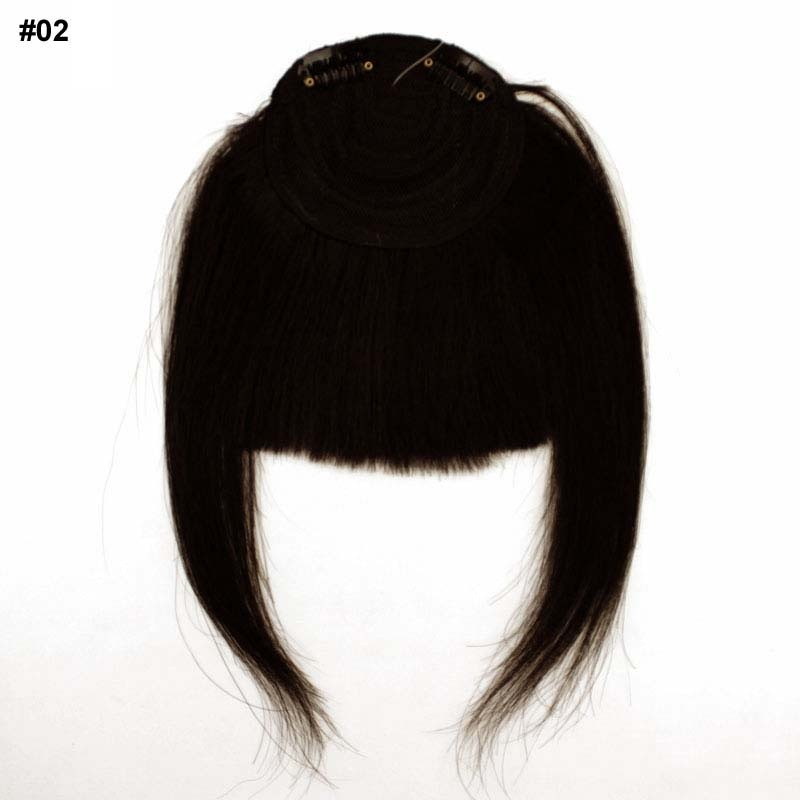 Buy Clip In Real Human Hair Wig Fringe