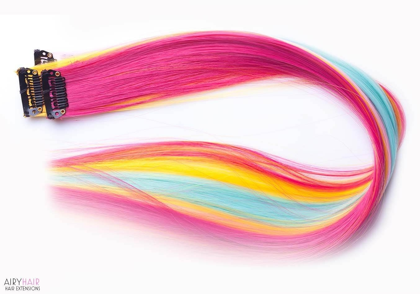 Buy Clip In Extensions Color Pop Highlights Airyhair