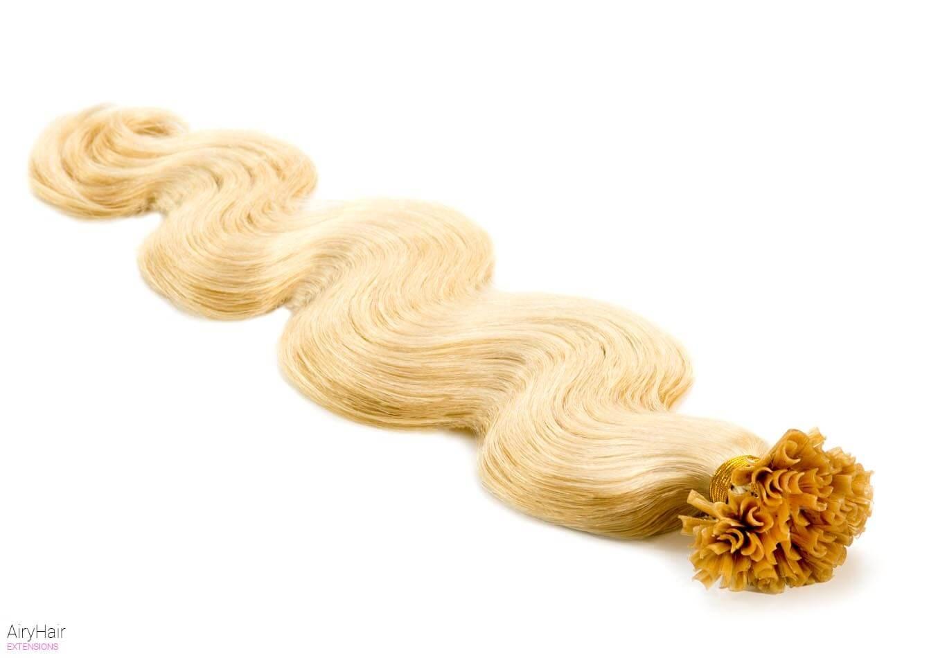 Glue In Artificial Body Wave Hair Extensions Airyhair