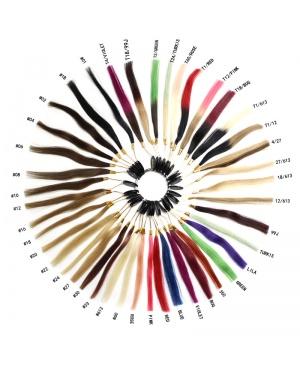 100% Mänskligt Hår, Färgring (43 Färger)