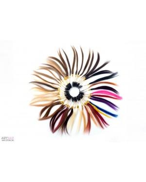 100% Ludzkich Włosów Kolorowy Pierścień (43 Kolory)