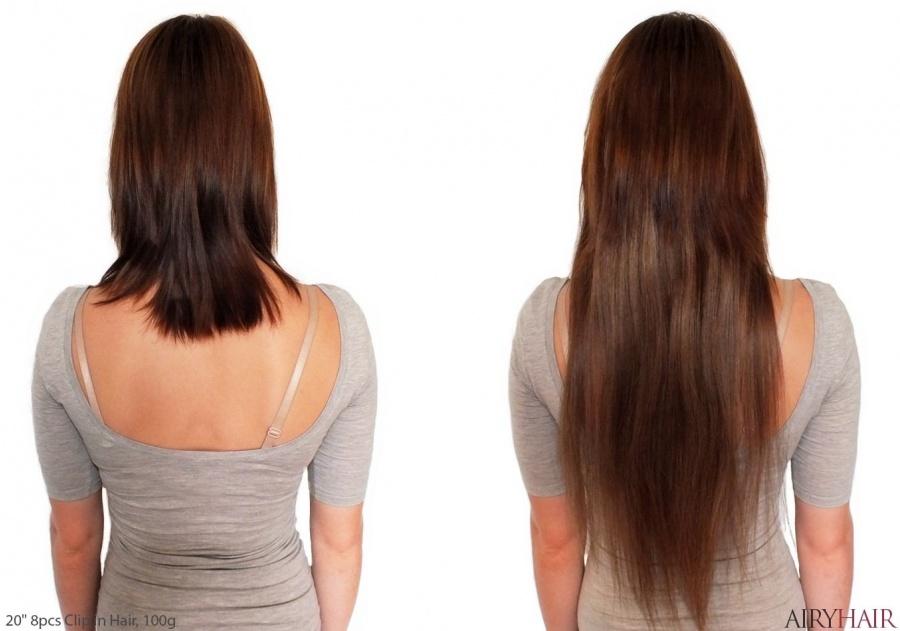 100% Naturalūs Plaukai - Prisegami Plaukų Tresai Nuo 38 Iki 70 cm