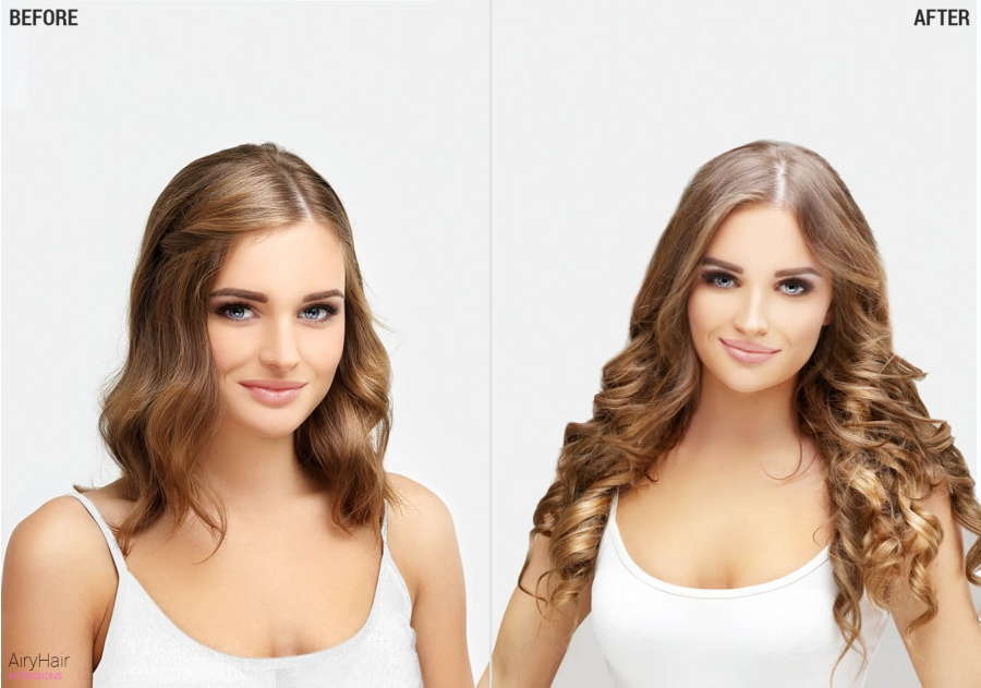 100% Natural Remy - Clip In Haarextensions 25 - 75 cm