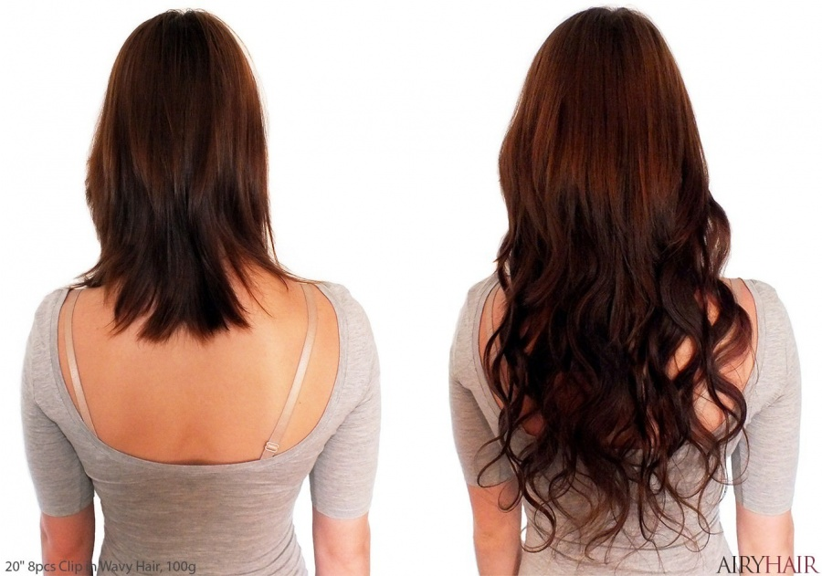 100% Naturalūs Plaukai - Prisegami Plaukų Tresai