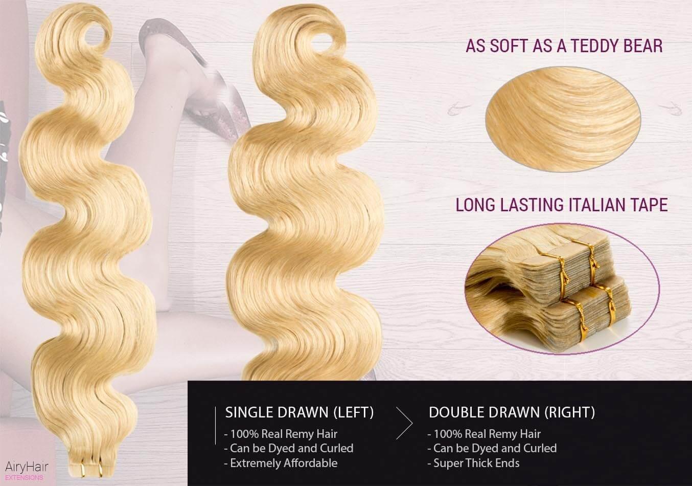 Extension capelli veri adesivo
